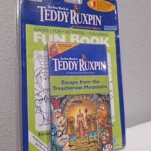 The Wonderful World of Teddy Ruxpin VHS & Book